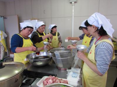炊き出し訓練の写真1